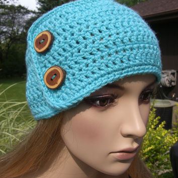 Crochet Head Wrap With Buttons Only New Crochet Patterns