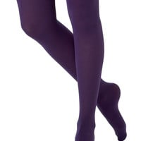 Tights for Every Occasion in Grape | Mod Retro Vintage Tights | ModCloth.com