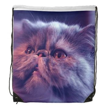 Cat Drawstring Backpack