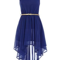 Aysmmetric royal blue dress - View All New In   - What's New