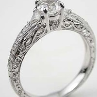 White Sapphire Engagement Ring with Infinity Motif, RG-2814am