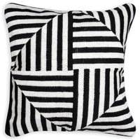 Black And White Bargello Windmill Throw PillowITEM #: 23389