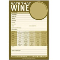 Rate That Wine Pad - Wine Judging Note Pad - Whimsical & Unique Gift Ideas for the Coolest Gift Givers