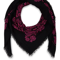 Christopher Kane Pink Floral Wool and Silk-Blend Scarf | Scarves | Liberty.co.uk