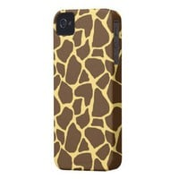 Stylish Giraffe Print Iphone 4 Case-mate Cases from Zazzle.com