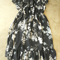 Ruffled Cherry Blossom Dress [2671] - $32.00 : Vintage Inspired Clothing & Affordable Summer Dresses, deloom | Modern. Vintage. Crafted.