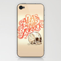 Hamlet Skull iPhone & iPod Skin by Rachel Caldwell | Society6