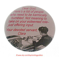 Funny Karma Magnet can be Personalized