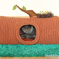 PATTERN: A House in the Forest pet crochet bed, cat cave