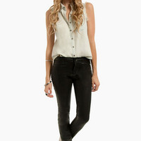 Coated Skinny Jeans $60