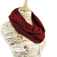 Infinity Scarf Burgundy Red Oxblood Wine Circle Fall