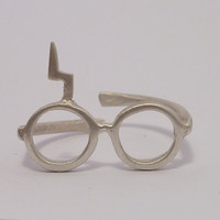 Harry Potter. Lightning glasses.Sterling silver ring.