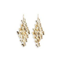Amazon.com: Polished Gold Tone Butterfly Chandelier Dangle Earrings: Jewelry
