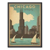 Vintage travel Chicago USA - Poster