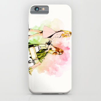 LET'S GO! TRAVEL iPhone & iPod Case by Sara Eshak