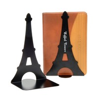 1 Pair Eiffel Tower Nonskid Bookends (Black)