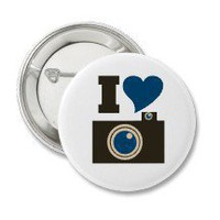I Love Photography Pinback Buttons
