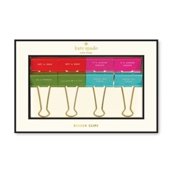 kate spade new york 8-Piece Call to Action Binder Clip Set at Von Maur