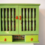 Candy Apple and Butterflies cabinet by happydayvintage on Etsy