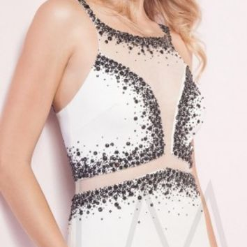 Jeweled encrusted prom dresses by LM Collection