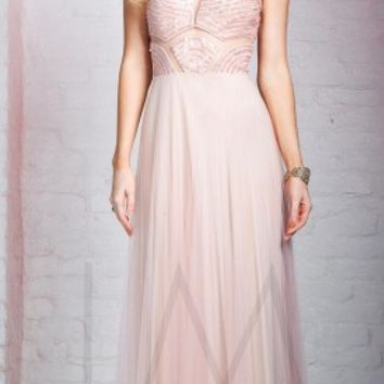 Cutout bodice prom dresses by LM Collection