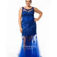 Sydney's Closet Royal Tulle Fit & Flare Gown Prom 2015