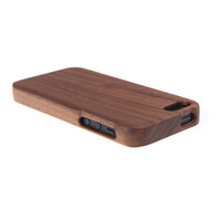 Natural Walnut Wood IPhone 5/5s Case Anti-Scratch Hard Back