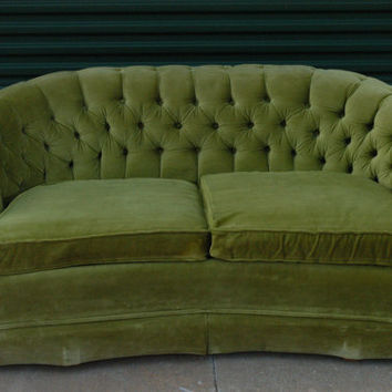 Vintage Lime Green Loveseat Sofa From Thetravelingowlshop On