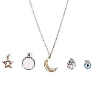With Love From CA Celestial Interchangeable Charm Necklace