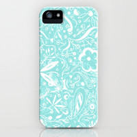 Abstract Sea Foam Floral Pattern Design by MADART iPhone Case by Megan Aroon Duncanson ~ MADART | Society6