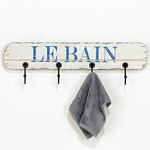 Le Bain Sign Wall Hook | Wall Art and Decor| Home Decor | World Market