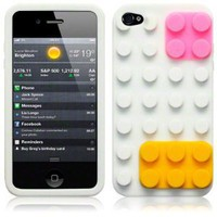 iPhone 4S / iPhone 4 Brick Style Silicone Skin Case: Amazon.co.uk: Electronics