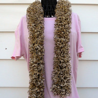 Animal Print Knitted Boa Fashion Scarf