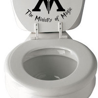 This Way to The Ministry of Magic Harry Potter Toilet Decal