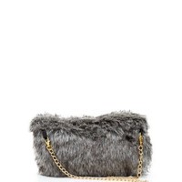 Dark Grey Faux Fur Handwarmer