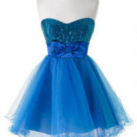 Blue Sequin Tulle