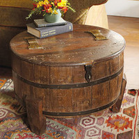 Vintage Barrel Side Table - NapaStyle