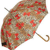 Leopard Bow Walker Umbrella - Umbrellas  - Accessories