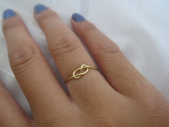 Gold Infinity Knot Ring