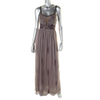 Free People Womens Metallic Sequined Formal Dress - 0 / Stormy Grey