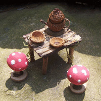 FAIRY TEA POT Toadstool Table Acorn Teapot by Lilacpumpkin on Etsy