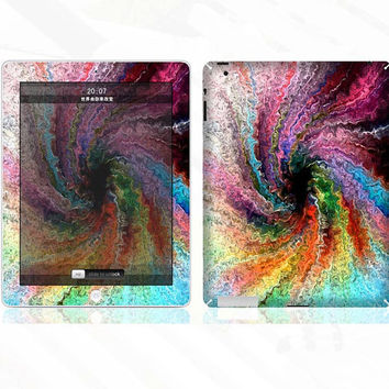 Colorful Swirl -- iPad Full-Cover Decal iPad Protection Decal  iPad Sticker iPad Cover iPad Skin Apple Art Decal for Apple iPad2