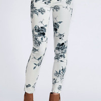 Floral Secrets Skinny Jeans - $48.00: ThreadSence, Women&#x27;s Indie &amp; Bohemian Clothing, Dresses, &amp; Accessories