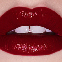 GLAMOUR101 dark red opaque lipstick - Lime Crime