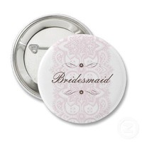 Bridesmaid Button-Vintage Bloom from Zazzle.com