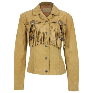 Scully Women's Suede Leather Fringe Jacket