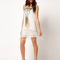 River Island Beaded Deco Dress at asos.com