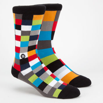 Stance Ragtag Mens Mix & Match Crew Socks Navy