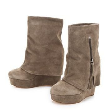 alice + olivia Yeardley Zip Cuff Boots | SHOPBOP