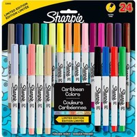 Sharpie Permanent Markers Ultra Fine Point - Assorted Colors - 24 Count - Walmart.com